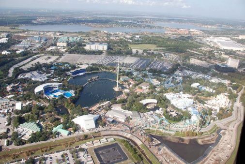 aerial shot of Sea World Orlando
