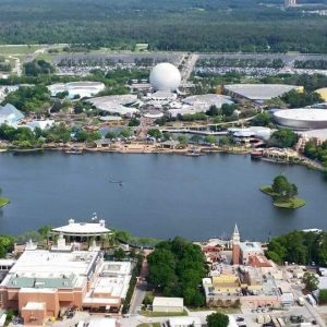 aerial view of Epcot Center